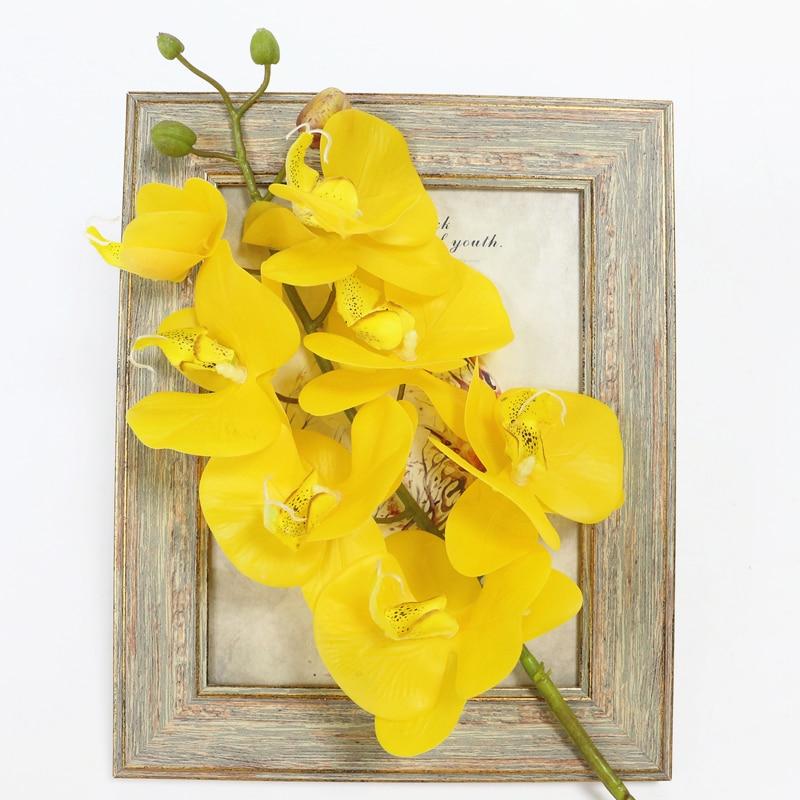 Lule Orkide Artificiale Prekja e Vërtetë Butterfly Artificial - Furnizimet e partisë - Foto 5