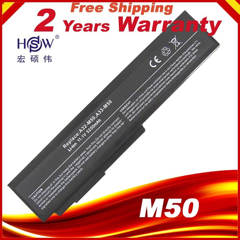 6 Cell Laptop Battery For Asus N Series:N43 N43JF N43JF-A1 N43JQ N53 N53Jf N53Jg N61 N61-A1 N61J N61Ja N61jq A32-M50 A33-M50