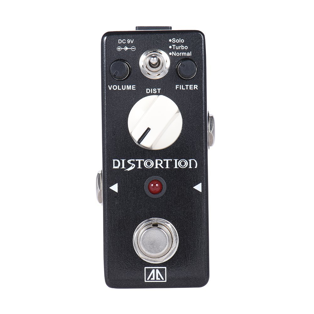 AROMA ABT-5 Classic Distortion Guitar Effect Pedal Warm Smooth Wide Range Distortion Sound 3 Modes Aluminum Alloy True Bypass