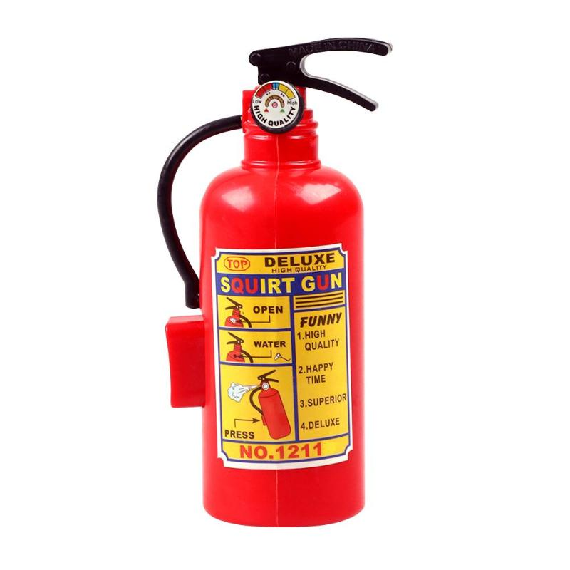 Simulation Lifelike Fire Extinguisher Toy Creative Plastic Water Gun Mini Spray Style Exercise Toy Kid Gift Bathtub Beach Squirt