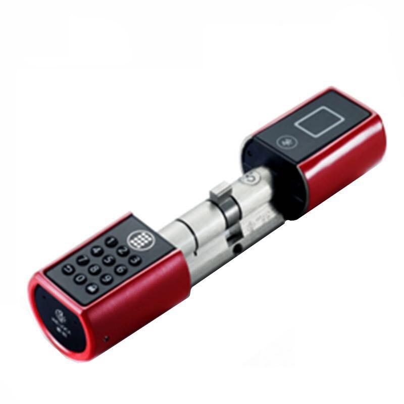 L4PB+Plus Bluetooth Lock Door Smart Wireless Bluetooth Password Electronic Lock Cylinder with door knob handle nitro triple chrome plated abs mirror 4 door handle cover combo