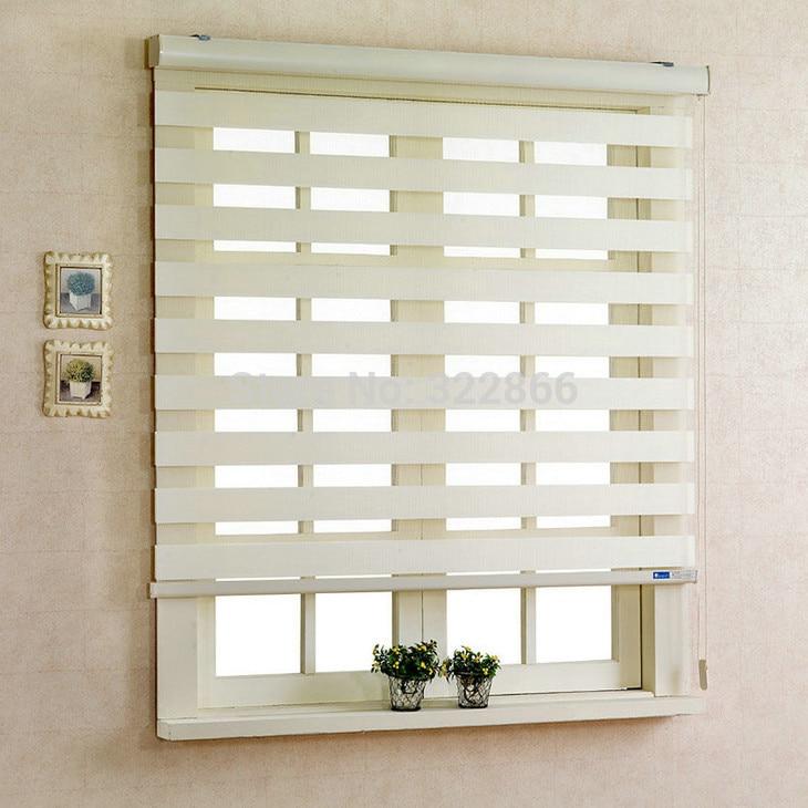 Free shipping zebra blinds roller combi blinds rainbow shades sheer elegence customized size