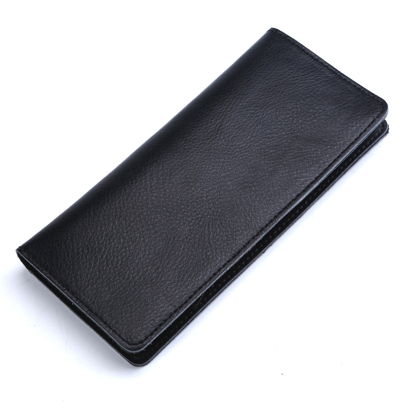 Real Cowhide Genuine Leather Long Wallet Women Men Fashion Coin Purse Card Holder Wallets High Quality Phone Clutch Money Bag