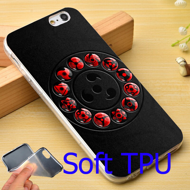 Sharingan Naruto Black Hard Phone Case for iPhone