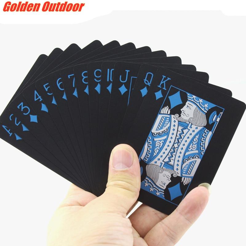 quality-durable-playing-cards-waterproof-pvc-plastic-54pcs-deck-font-b-poker-b-font-classic-magic-tricks-tool-pure-black-cool-gift-font-b-poker-b-font