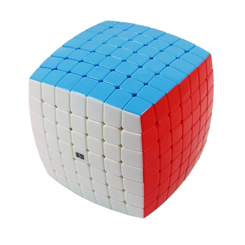 YJ MoYu AoFu 7X7X7 Stickerless Speed Puzzle Cube Professional Twist Cubes Cubo Magico Classic Learning Educational Toys Kid Gift title=
