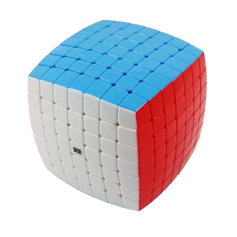 YJ MoYu AoFu 7X7X7 Stickerless Vitesse Puzzle Cube Professionnel Twist Cubes Cubo Magico Classique D'apprentissage Éducatifs jouets Enfant Cadeau