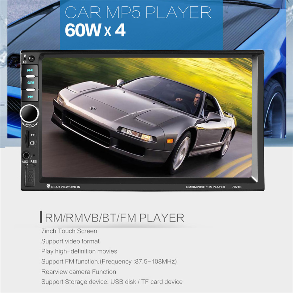 REAKOSOUND Multi-function 7inch Touch Screen 2din Bluetooth MP5 Video Player Remote Control Support USB / TF / AUX / FM 2017 hot bluetooth multi function audio intelligent family host background music system lcd screen touch light dimmer 2 speakers