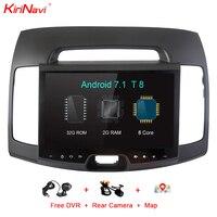 KiriNavi Octa Core Android 7.1 Car GPS Navigation System For Hyundai Elantra Touch Screen DVD GPS Multimedia Radio DVD Player