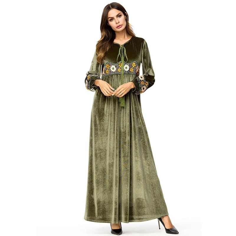 a1872e6bbf330 Detail Feedback Questions about TOPMELON Turkey Abaya Muslim Dress ...