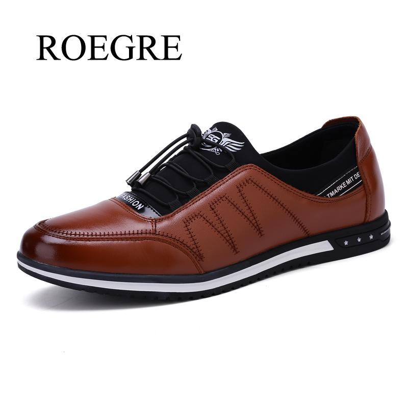 ROEGRE Spring autumn Breathable Mesh Mens Casual Lace-up