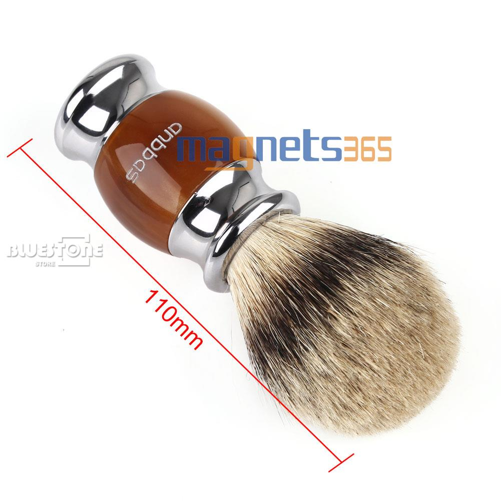 Anbbas Best Shaving Brush Pure Silvertip Badger Hair Resin Kirsite Plated Handle