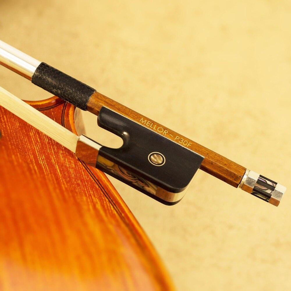 Pernambuco Français Double Bass Bow 4/4 Taille Blanc Naturel Cheval Cheveux MELLOR Professionnel P30F *** OFFRE SPÉCIALE de 50% ***