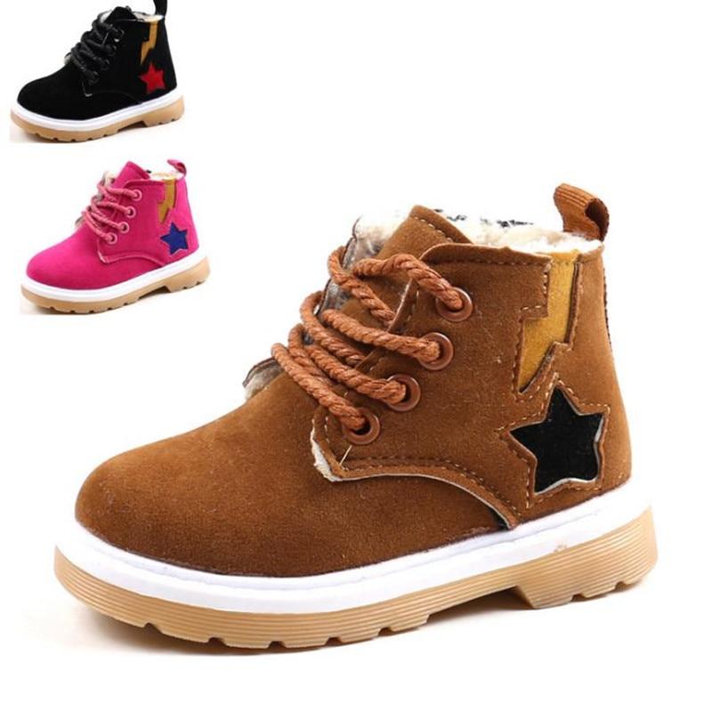 цена HaoChengJiaDe Winter Baby Boys And Girls Shoes Kids New Fashion Snow Boots Warm Cotton Thick Soft Shoes Baby Children Clothing в интернет-магазинах
