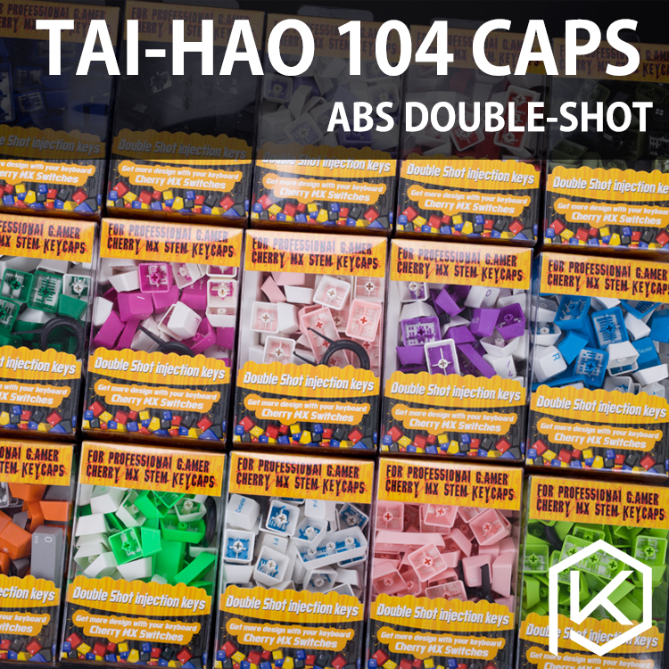 Taihao Abs Double Shot Keycaps For Diy Gaming Mechanical Keyboard Color Of Germany Purple Pink White Blue Green Yellow Argentina