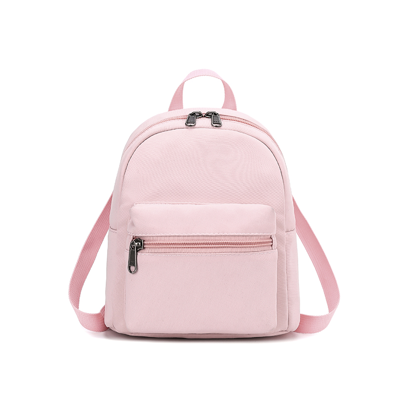 New Fashion Canvas Fabric Women Mini Backpacks Soft Touch Ladies Shoulder Bag Flower Printing Girl Small