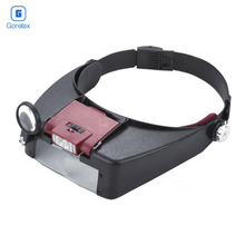 Headband Magnifier Glasses, 1.5x 3X 8.5x 10x Eyewear Magnifying Glasses with 2 LED Lights Lamp Head Magnifier Loupe For Repairs цены