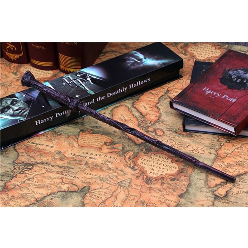 Classic Toy One Piece Harry Potter Magic Wand With Gift Box Cosplay Game Prop Collection Series Toy Stick Gift