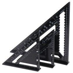 1 pc 7 /12 liga de alumínio triângulo ângulo transferidor velocidade praça régua medição mitra para carpintaria carpinteiro ferramentas manuais
