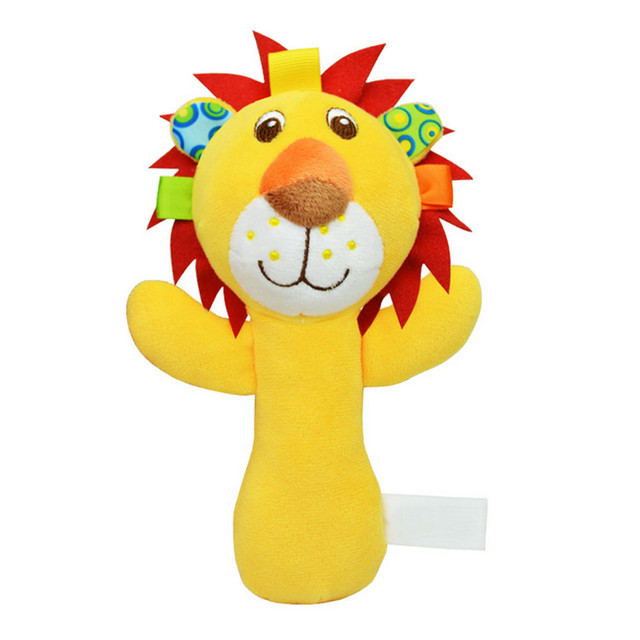 Musical Rattles Soft Comfortable Plush Baby Toys Cartoon Animal Handle Rattles Cute Toy High Quality FJ88
