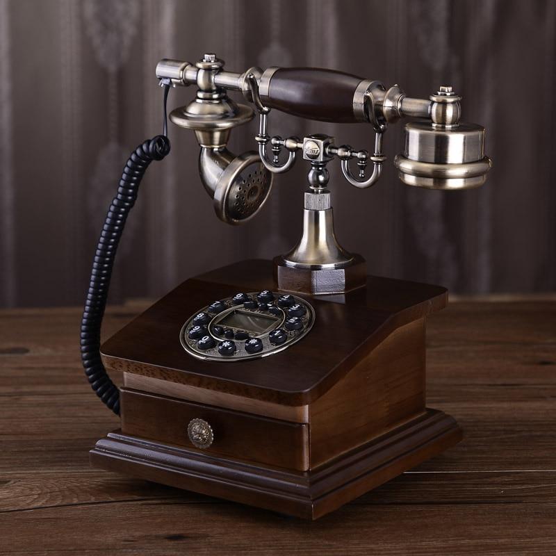 Fashion antique telephone vintage home landline solid wood phone YL 515