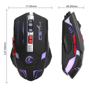 Image 2 - HXSJ H600 Professional USB Wired Quick Moving LED Light Gaming Mouse Game Peripherals with 7 Buttons Coding Mice