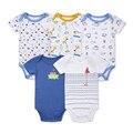 2016 recién 100% de algodón del bebé Baby Body de manga corta trajes Newborn Baby Boy Summer ropa 0 - 12 M ( 5 unids/lote )