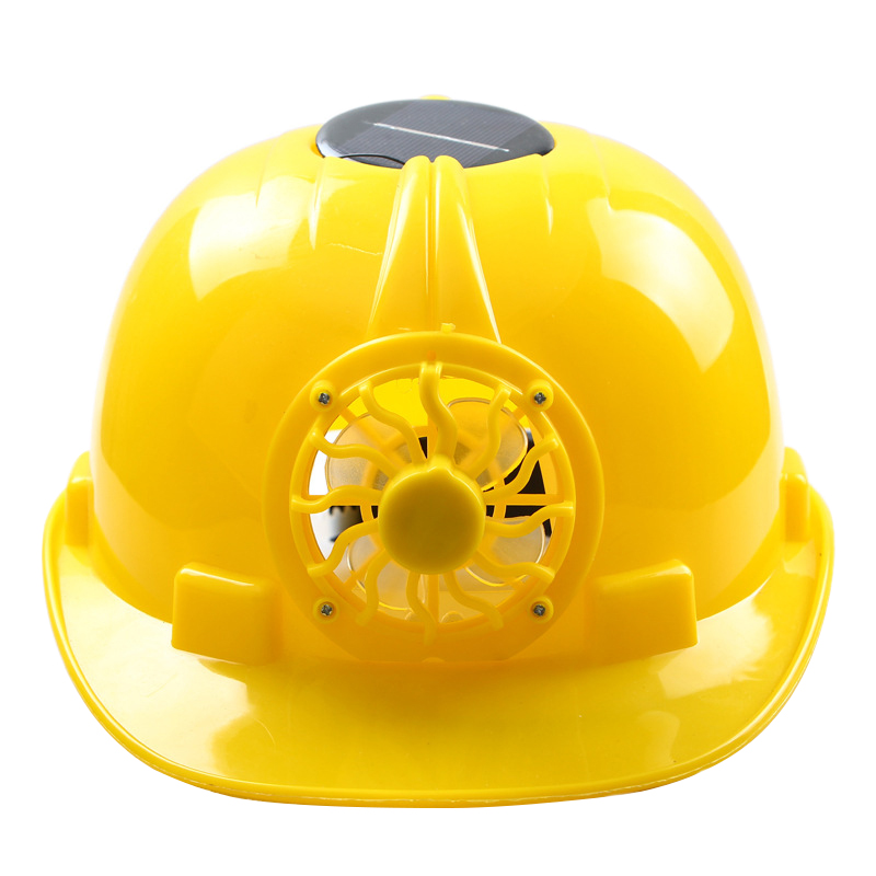 Solar Powered Safety font b Helmet b font Hard Ventilate Hat Cap with Cooling Cool Fan