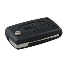 2 Botões Chave Do Carro Reaparelhar Apto Para Citroen C2 C3 C4 PICASSO C5 Alarme Remoto Flip Chave Fob 433 MHz PCF7961 Substituição Carro chave