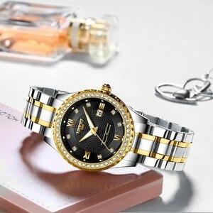 Image 3 - NIBOSI Feminino Severler Saatler Erkekler Kuvars Takvim Çelik Su Geçirmez sevgili saati Erkekler Bayanlar Elbise Erkek Saat Reloj Hombre Mujer