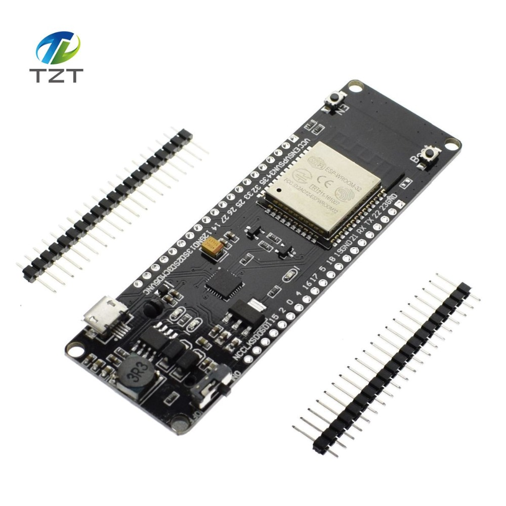 US $5 38 10% OFF|WEMOS WiFi & Bluetooth Battery ESP32 development tool  ESP32 battery esp8266 ESP WROOM 32 ESP32 good-in Integrated Circuits from