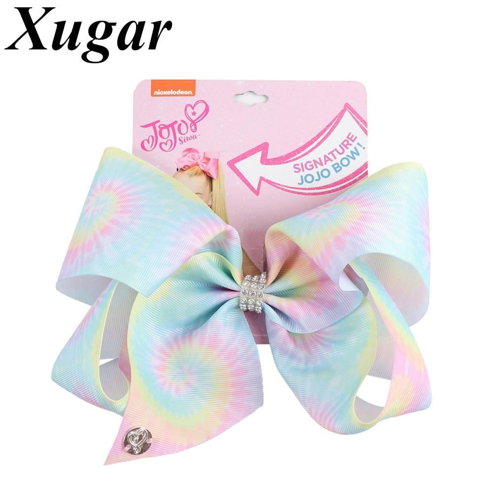 Unicorn Rainbow And Silver Hair Bow CLip Handmade Sparkling Birthday Girl Accessories Christmas Gifts 2018