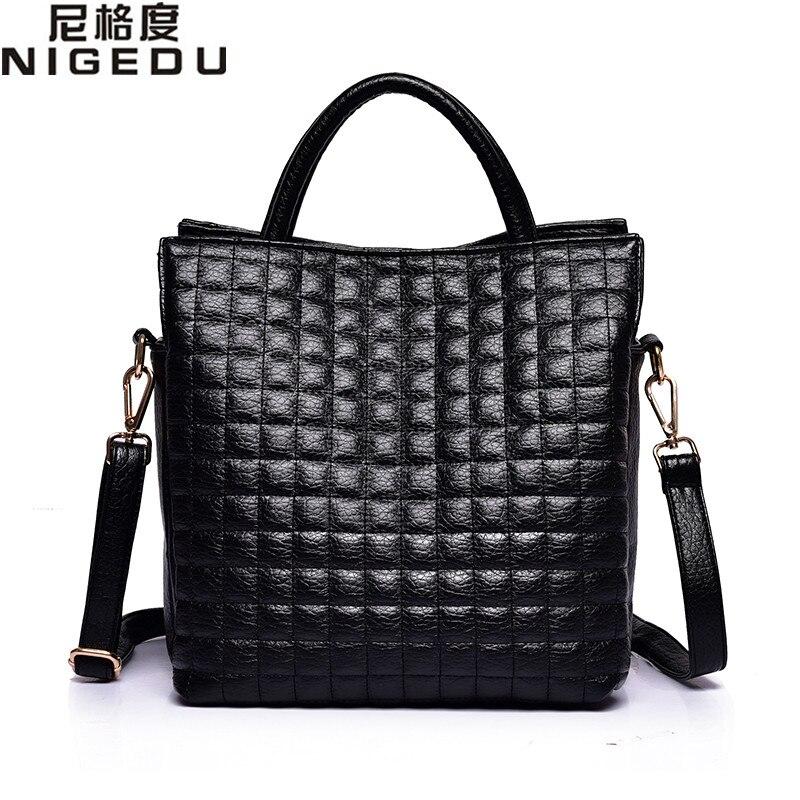 ФОТО Fashion Diamond lattice Women handbags large thread Shoulder bag for Women's leather handbag Ladies Totes bolsas Free shipping