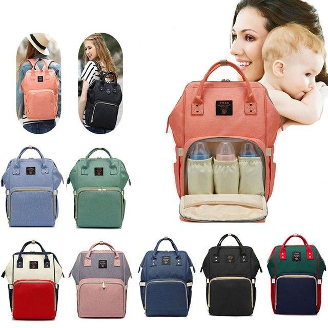 Fashion Mummy Maternity Popok Tas Besar Kapasitas Tas Popok Tas Ransel Nursing Bag untuk Perawatan Bayi Wanita Tas Fashion