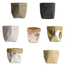 Buy wire kraft and get free shipping on aliexpress mini succulents kraft paper flower pot cover washable storage bags plants flowerpot bag children room sundries mightylinksfo