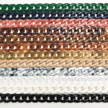 1 PC 60cm 120cm odłączany wymienny pasek na ramię torba Fish Bone akrylowa żywica torebka łańcuch pasek Paski Akcesoria Torby tanie i dobre opinie Gnirue (rzeka) SL002A1 Plastikowe Sieć hotelowa Kolorowy moda uchwyt na pasek