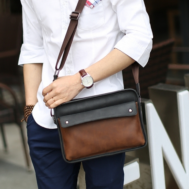 Aliexpress.com : Buy Fashion style men messenger bags vintage pu ...
