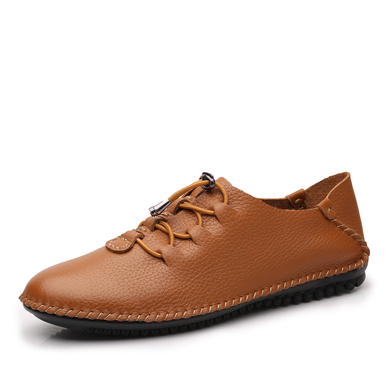 Plus Size High Quality Men Genuine Leather Shoes Breathable Softness Cow Leather Casual Shoes Anti Odor