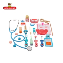 Portable Suitcase Children Pretend Play Doctor NurseToy Set Medical Kit Kids Educational Role Play Classic baby wooden toys 15 pieces set children pretend play doctor nurse toy set portable suitcase medical kit kids educational role play classic toys