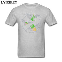 Nuova Venuta Frutta Pipistrelli Fresco Manica Corta T-Shirt Estate Autunno Girocollo In Puro Cotone T-shirt per Gli Uomini Felpe Personalizzate