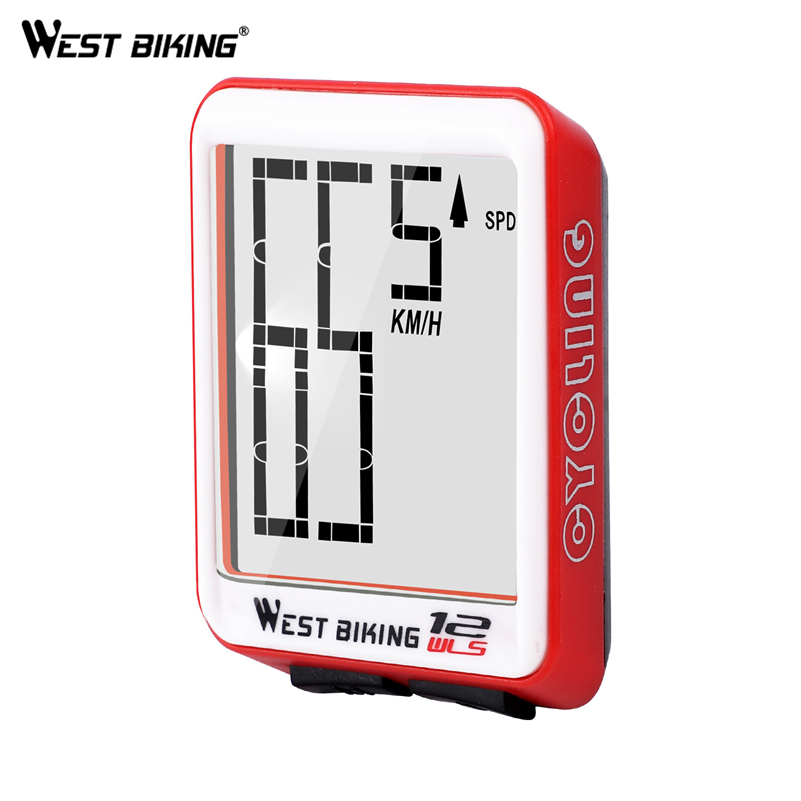 WEST BIKING Bike Computer Multifunction LED Digital Rate MTB Bicycle Speedometer Wireless Cycling Odometer Computer Stopwatch