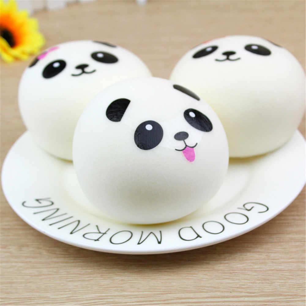 ISHOWTIENDA lindo pan Squishy lento aumento crema perfumado descompresión Juguetes Decoración correas colgante suave exprimidor regalos para mascotas