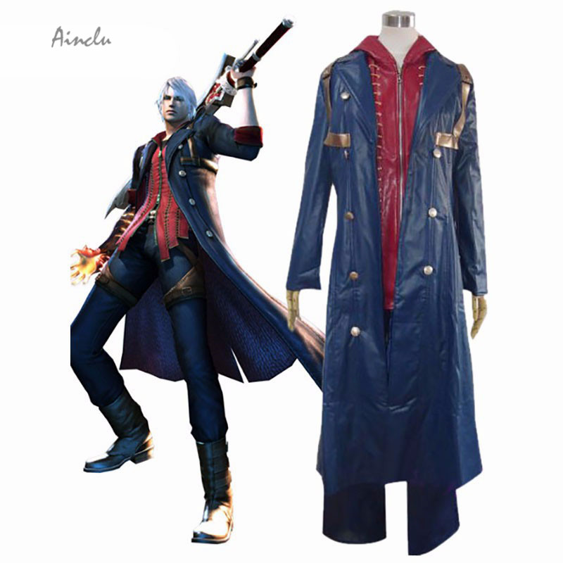 Ainclu Devil May Cry Nero Halloween cosplay costume Customize for plus size adults and kids