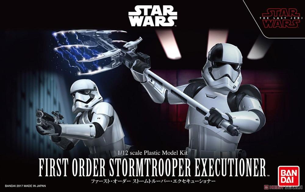 StarWars:The Last Jed Bandai Star Wars Toys White Soldier ExecutionerTrooper Collection Model Star Wars PVC Action Figure
