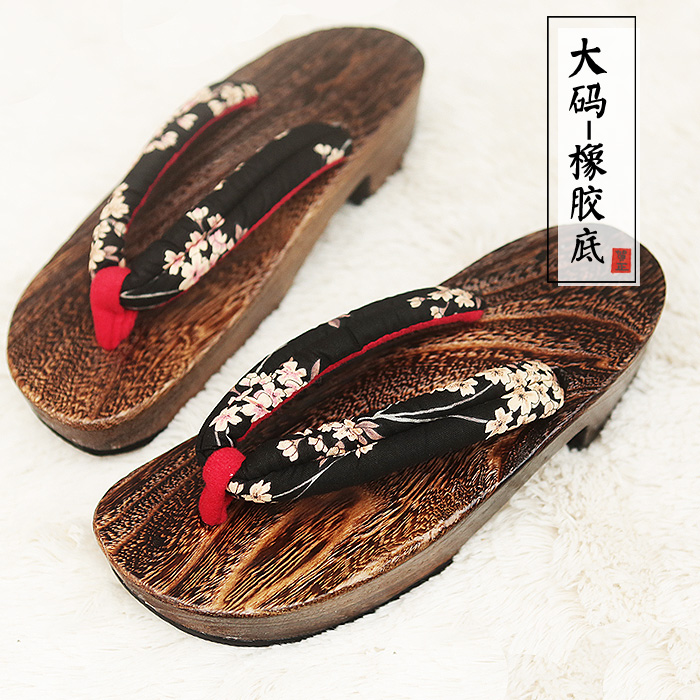 Charming Designer Flip-Flops Summer Women Slippers Japanese Geta Wooden Clogs Shoes Slippers Cosplay Costumes Shoes 35-40 summer women casual jelly shoes beach slippers breathable waterproof clogs for women hollow slippers flip flops shoes mule clogs