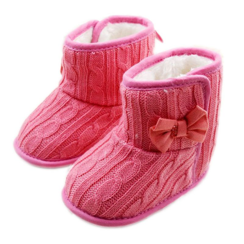 Winter Toddler Snow Boots Cute Infant Shoes Baby Boy Girls Shoes Crib Shoes 0-18M 20 Colors