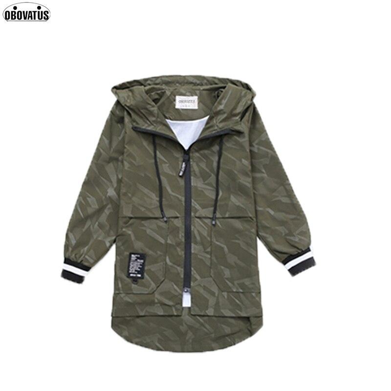 High end элегантные длинные узор детская зимняя верхняя одежда осенняя одежда армейский зеленый плащ для мальчиков-подростков пальто толстовк...