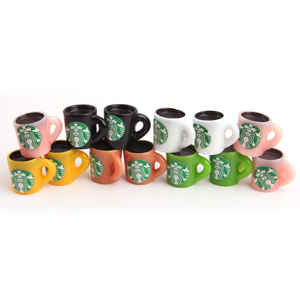Poupées miniatures maison de poupée 10 pièces/ensemble tasse à café en plastique bleu bébé américain jouets mini jouets accessoires pour poupée bébé Q41