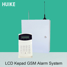 (1 Set) Iron Box Industry Alarm System Wireless 433MHz Remote control Lcd keypad 16 wireless and 16 wire zones GSM PSTN dual net