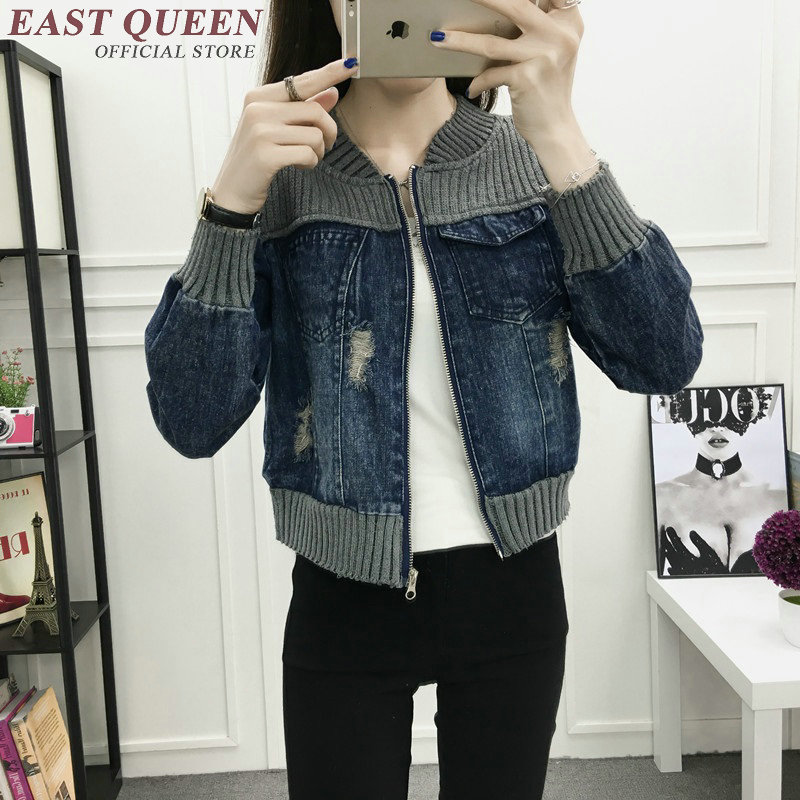 Jean jacket 2018 women autumn winter fashion outerwear denim jeans jacket women streetwear female ladies jeans